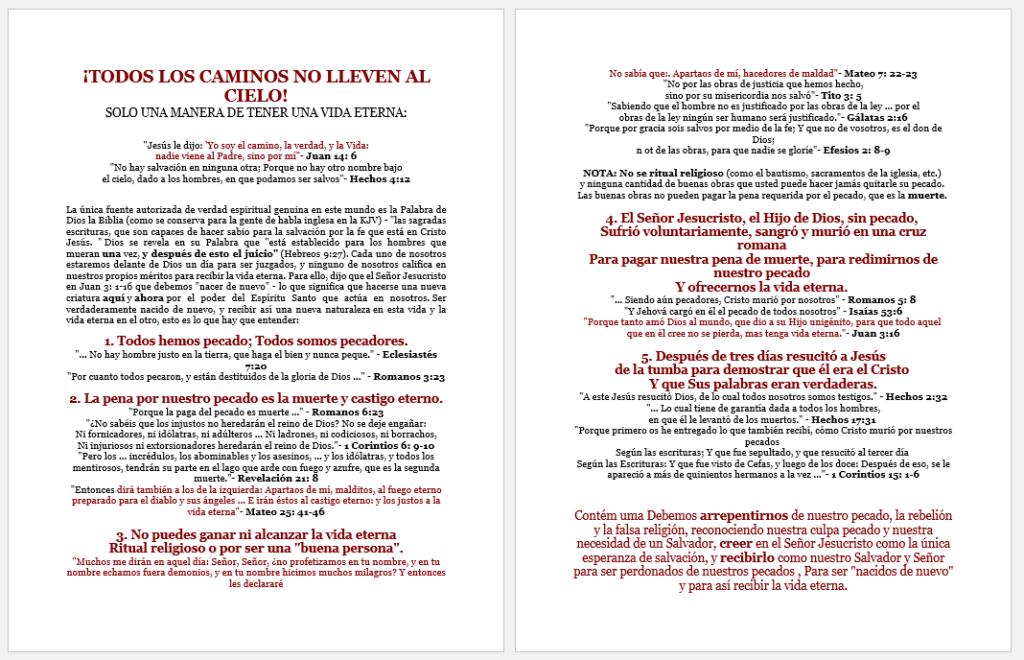 Gospel in Spanish